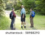 rear view of hispanic father... | Shutterstock . vector #58988293
