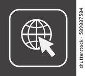 website  icon vector. flat... | Shutterstock .eps vector #589887584