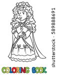coloring book or coloring... | Shutterstock .eps vector #589888691