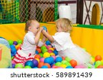 little cute girl playing in the ... | Shutterstock . vector #589891439
