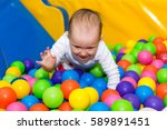 little cute girl playing in the ...   Shutterstock . vector #589891451