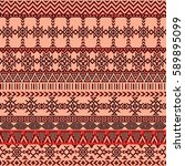 ethnic seamless pattern with... | Shutterstock .eps vector #589895099