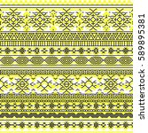 ethnic seamless pattern with... | Shutterstock .eps vector #589895381