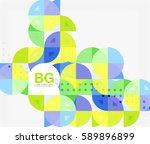 vector modern elegant circle... | Shutterstock .eps vector #589896899