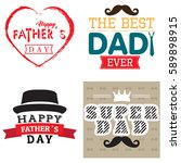 happy fathers day graphic... | Shutterstock .eps vector #589898915