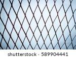 close metal old rusty brown... | Shutterstock . vector #589904441