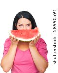 Healthy Young Woman Holding A...