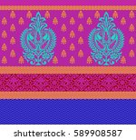 seamless paisley indian motif | Shutterstock . vector #589908587