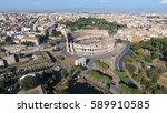 Aerial Close To Colosseum Also...