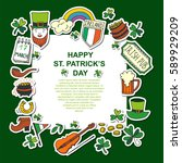 saint patrick's day traditional ...   Shutterstock .eps vector #589929209