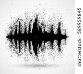 black music sound waves. audio... | Shutterstock .eps vector #589929845
