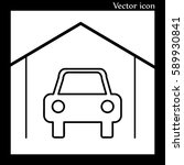 vector garage icon | Shutterstock .eps vector #589930841