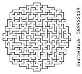 vector maze   labyrinth with...   Shutterstock .eps vector #589932134