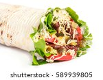 burrito wraps from fillet... | Shutterstock . vector #589939805