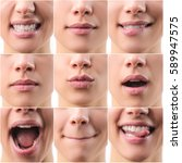 Collage of mouths detail with...