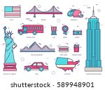 country usa travel vacation... | Shutterstock .eps vector #589948901