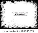 grunge frame. vector... | Shutterstock .eps vector #589949399