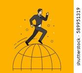line flat design vector... | Shutterstock .eps vector #589951319