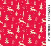 christmas background  seamless... | Shutterstock . vector #589952081