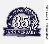 35 years anniversary logo...   Shutterstock .eps vector #589956557