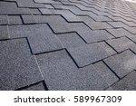 close up view on asphalt... | Shutterstock . vector #589967309