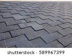close up view on asphalt... | Shutterstock . vector #589967399