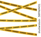 crime scene yellow tape  police ... | Shutterstock .eps vector #589969451