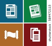 article icons set. set of 4... | Shutterstock .eps vector #589972115
