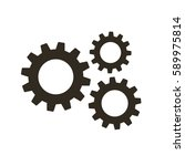 gears on a white background.... | Shutterstock .eps vector #589975814