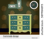 commode design. illustration of ... | Shutterstock .eps vector #589984895