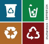 reuse icons set. set of 4 reuse ... | Shutterstock .eps vector #589989104