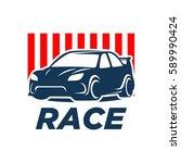 car racing logo template  ... | Shutterstock .eps vector #589990424