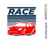 car racing logo template  ... | Shutterstock .eps vector #589991774
