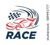 car racing logo template  ...   Shutterstock .eps vector #589991777