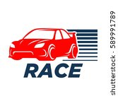 car racing logo template  ... | Shutterstock .eps vector #589991789