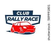 car racing logo template  ... | Shutterstock .eps vector #589991801
