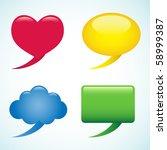 Four Colorful Speech Bubbles.