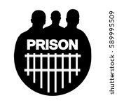 icon man prisoner vector.... | Shutterstock .eps vector #589995509