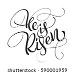 he is risen text isolated on... | Shutterstock .eps vector #590001959