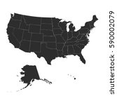usa map.vector | Shutterstock .eps vector #590002079
