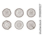set of four tree rings icons.... | Shutterstock .eps vector #590009027