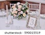 beautiful tenderless bouquet on ...   Shutterstock . vector #590015519