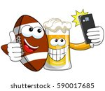 cartoon beer and american... | Shutterstock .eps vector #590017685