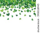 seamless pattern with shamrock... | Shutterstock . vector #590018945