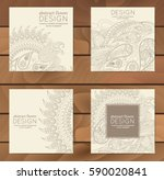 vector set of business cards... | Shutterstock .eps vector #590020841