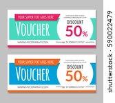 discount voucher certificate.... | Shutterstock .eps vector #590022479