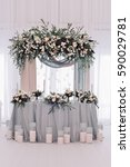 luxury decorated marriage...   Shutterstock . vector #590029781