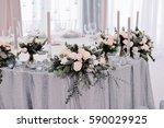 beautiful tenderless bouquet on ...   Shutterstock . vector #590029925