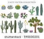 cacti vector collection.... | Shutterstock .eps vector #590030201