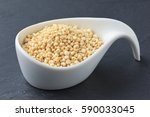 Expanded White Quinoa Seeds In...